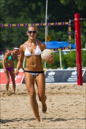 Muscular volley girl