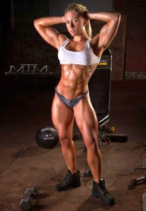 with muscular athletic legs Girls